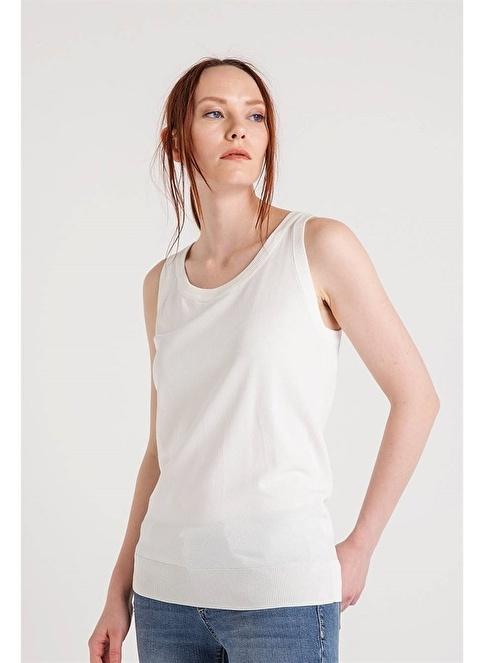 Fracomina Kolsuz Bluz Beyaz